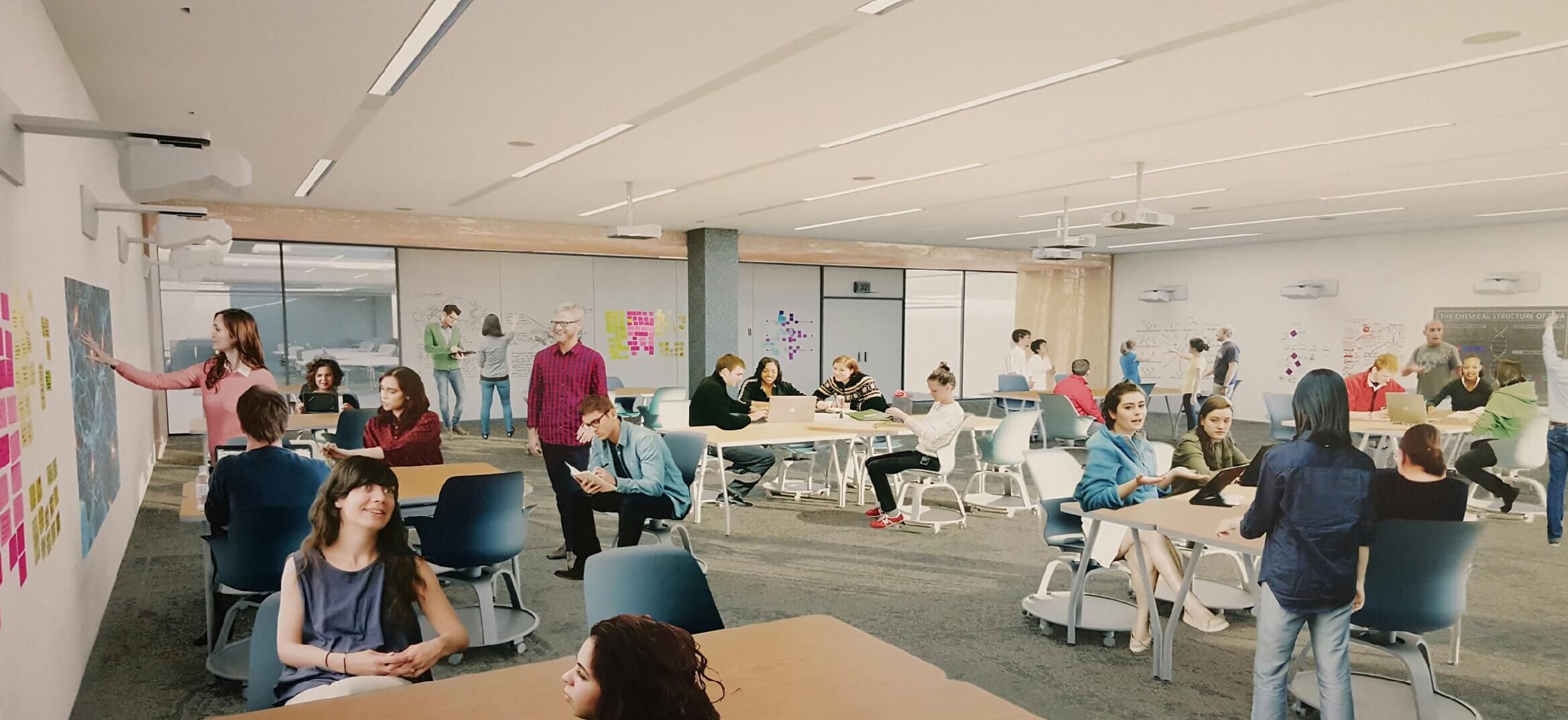 artist rendering of Active Learning Classroom