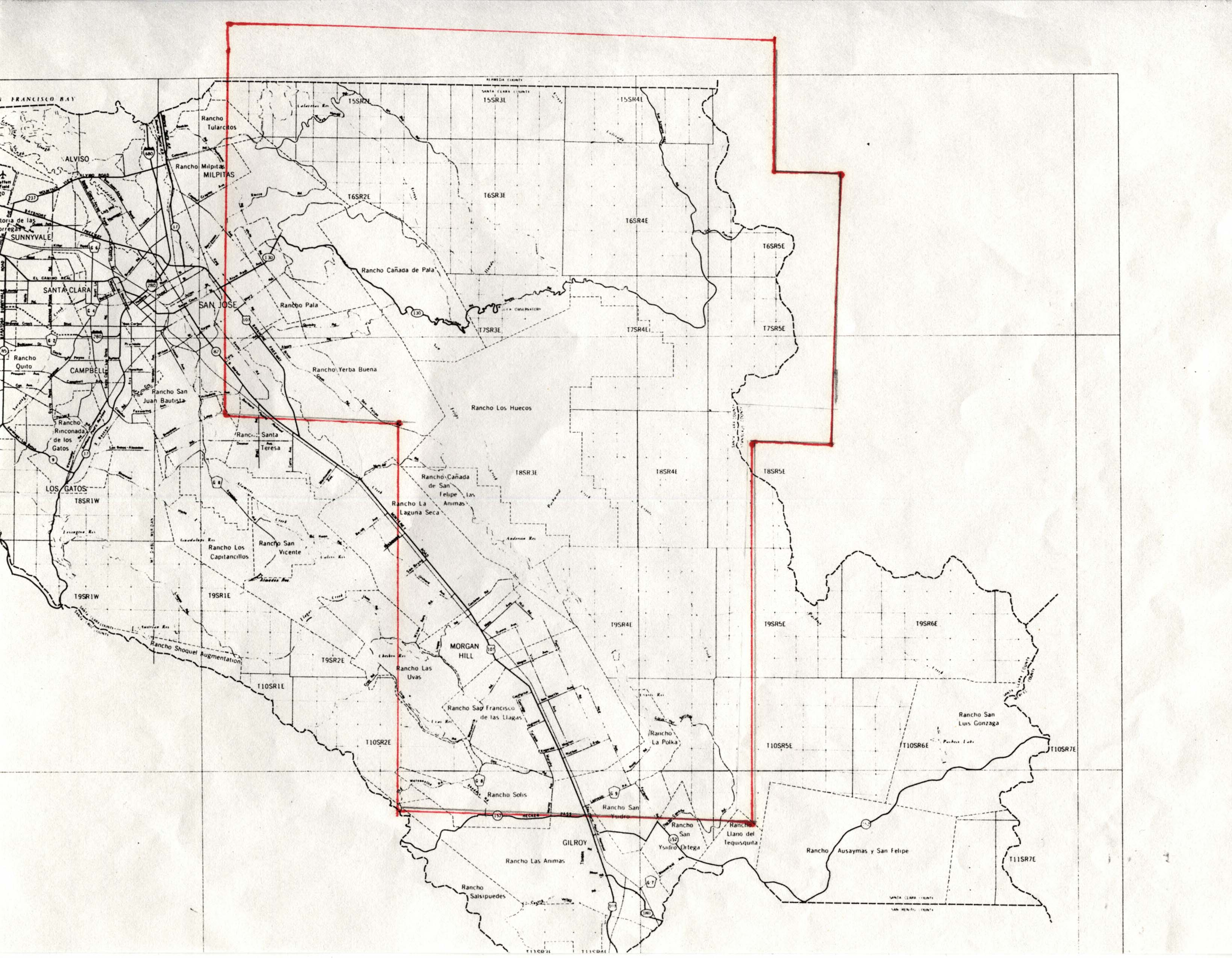 1940B Santa Clara County areas east and southeast of San Jose
