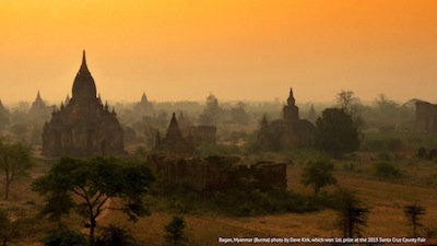 Dave Kirk's photo from Bagan, Myanmar (Burma) which won 1st. prize at the 2015 Santa Cruz County Fair