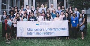 Group photo of The Chancellor's Undergraduate Internship Program