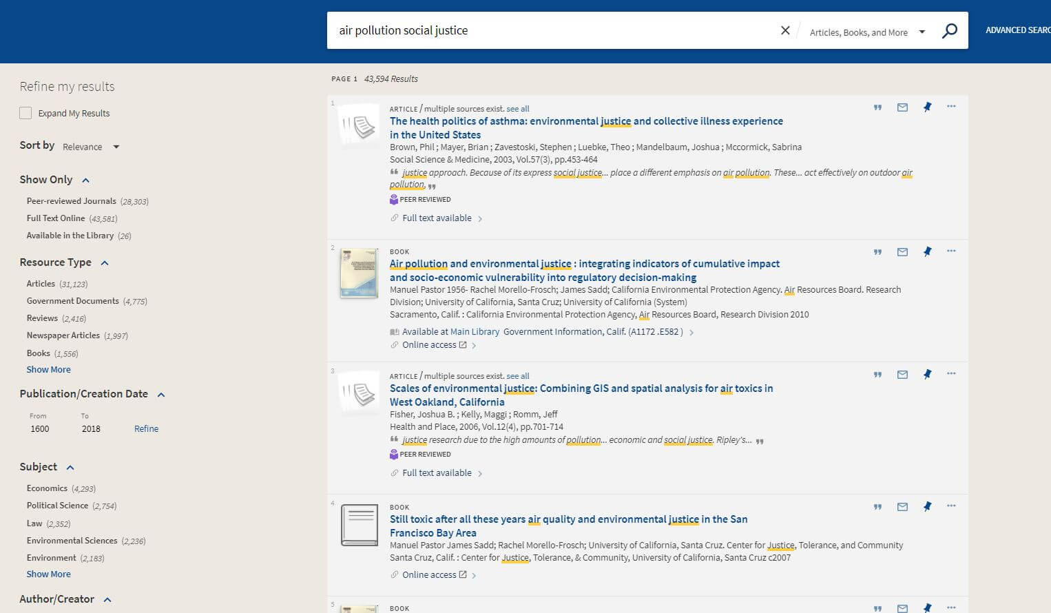 UCSB search results screenshot cropped w/o their branding