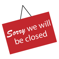 Closing Signs & Banners