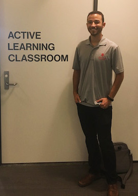 Dr. Colin Wesy outside of the Active Learning Classroom
