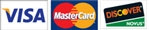 credit card logos, Visa and Mastercard