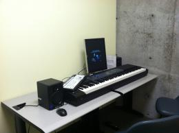 Image of room with practice keyboard