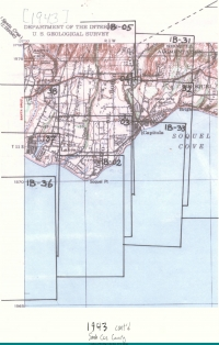 Aerial photo index map flight: 1943_Santa_Cruz_County_Flight_CJA_Index_1