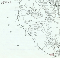 Aerial photo index map flight: 1977a