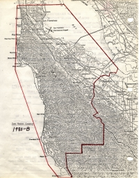 Aerial photo index map flight: 1980b