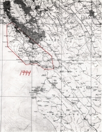 Aerial photo index map flight: 1994