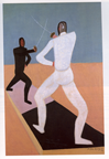 """Fencers"" by Milton Avery"