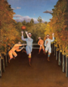"""The Football Players"" by Henry Rousseau"