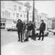 Grateful Dead stand on the corner of Haight & Ashbury, 1966. Herb Greene.