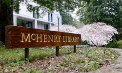 McHenry Library sign