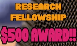Undergraduate Research Fellowship $500 Award Applications due January 19th