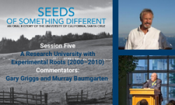 Gary Griggs and Murray Baumgarten reading from Seeds of Something Different