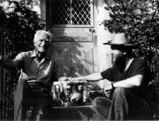 Photo Sir Geoffrey Keynes with Arnold Fawcus
